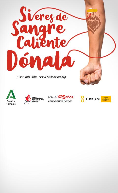 Si eres de sangre caliente dónala. Campaña Donantes de Sangre 2020
